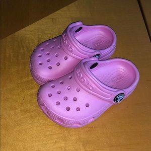 Pink crocs size 5